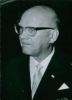 Vintage photo of Portrait of the President of Finland since 1956 Urho Kaleva Kekkonen. 1962