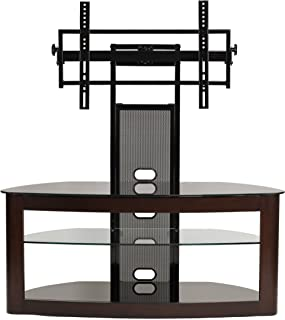 TransDeco TV stand with mount for 35-80 inch television, Espresso/Black