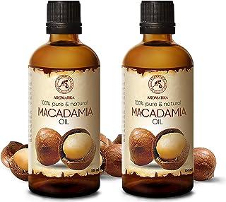 Aceite de Macadamia 200ml - Macadamia Integrifolia - Suráfrica - 100% Puro & Natural 2x100ml - Botella de Vidrio - Cuidado...