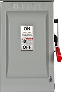 Siemens HF362R 60-Amp 3 Pole 600-volt 3 Wire Fused Heavy Duty Safety Switches