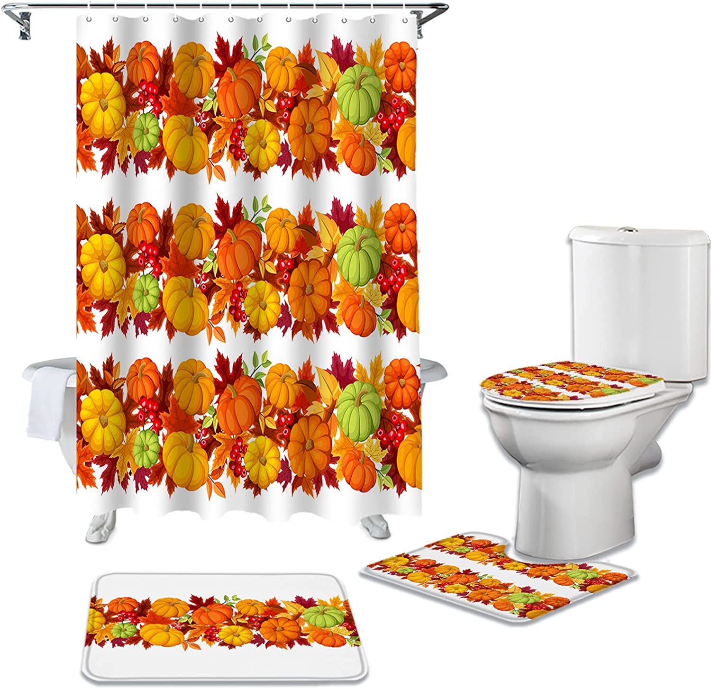 DaringOne Autumn Harvest Cheap SALE Start 4Pcs OFFicial shop Bathroom Accessory Set with Bath R