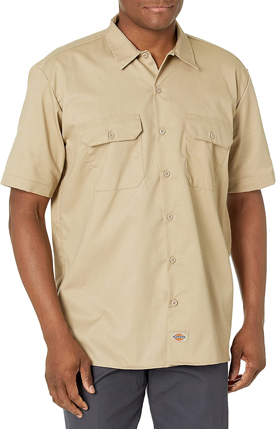 Dickies Men's Flex Cooling Twill Short Sleeve Work Shirt: Clothing, Shoes & Jewelry