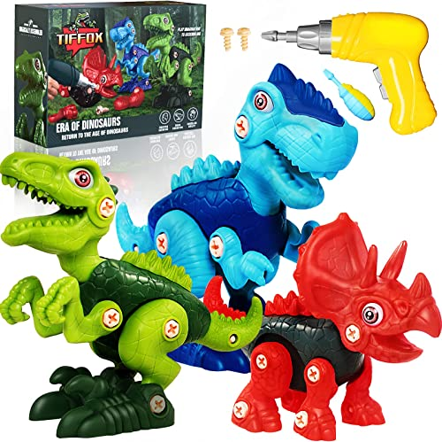 discount Kids Dinosaur Toys, Take high quality new arrival Apart Dinosaur Toys for Kids 3-5 5-7 8-12, Construction STEM Building Learning Toy Set with Electric Drill, Toys for 3 4 5 6 7 8 Year Old Boys Girls Birthday Xmas Gifts online sale