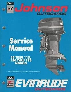 1990 JOHNSON EVINRUDE OUTBOARD 88-115,150-175 HP SERVICE MANUAL P/N 507874 (194)