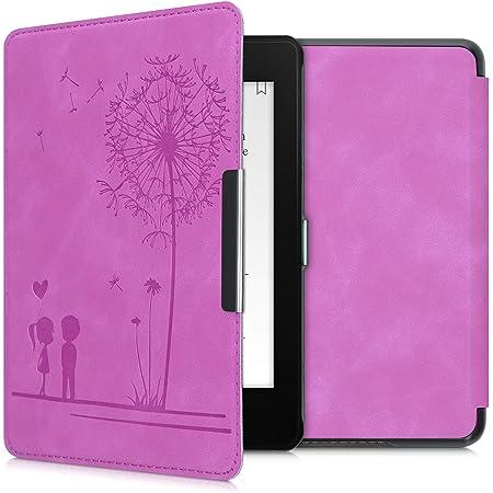 kwmobile Case Compatible with Amazon Kindle Paperwhite (10. Gen - 2018) - Case e-Reader Cover - Dandelion Love Violet
