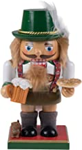 Clever Creations Classic Chubby German Nutcracker Wearing Lederhosen & Holding a Mug | Festive Collectible Decor | Perfect for Shelves and Tables | 100% Wood | 7.25