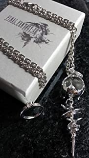 Final Fantasy XIII Serah Farron Necklace & Ring | FF13 Cosplay Dissidia Squall Griever Cloud Lightning Anime