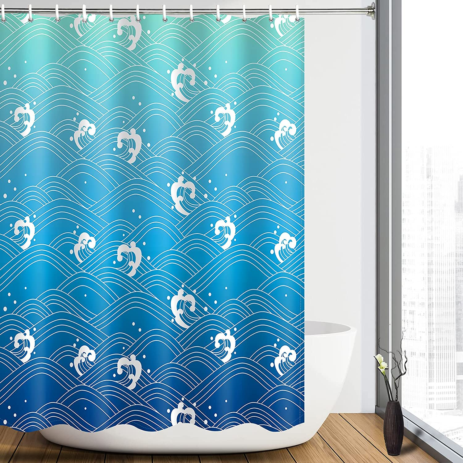Heopapin Striped Shower Curtain Abstract Challenge the lowest price of Japan Spray Ranking TOP14 Se
