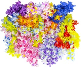 Hawaiian Leis, Luau Party (100-Pack) Silk Flower Leis