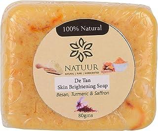 NATUUR Besan Turmeric Saffron Soap, 100 g