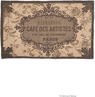 American Chateau French Cafe Des Artists Brown/Beige Cotton 32