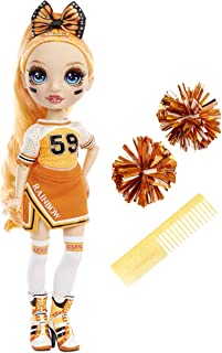 Rainbow High Cheer Poppy Rowan – Orange Cheerleader Fashion Doll with 2 Pom Poms and Doll Accessories, Great Gift for Kids...