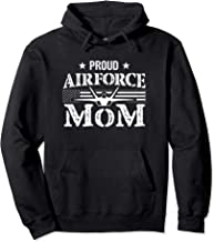 Proud Air Force Mom - Airforce Gifts - July 4th Mothers Day Pullover Hoodie