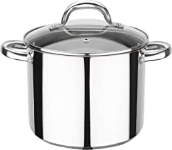 17 L 30 x 24 cm Stainless Steel Silver//Clear 30 x 30 x 24 cm GSW Stahlwaren GmbH Jumbo Cooking Pot