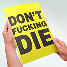 InYourFace Cards Large Get Well Soon Card DON'T FCKING DIE
