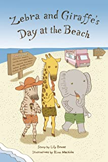 Zebra and Giraffe's Day at the Beach