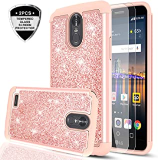 LG Stylo 3 Case, LG Stylo 3 Plus/Stylus 3 Case with Tempered Glass Screen Protector [2..