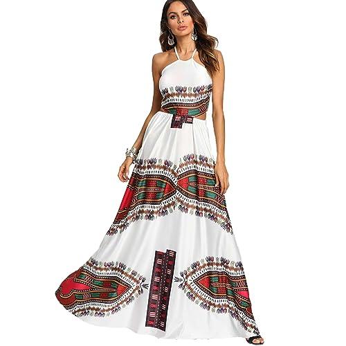 03c8cd54cc Floerns Women's Sexy Plus Size Maxi Dress Sleeveless Long Party Dress