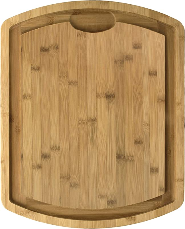 Totally Bamboo Farmhouse Bamboo Carving And Cutting Board 19 1 2 X 15 1 2 X 1