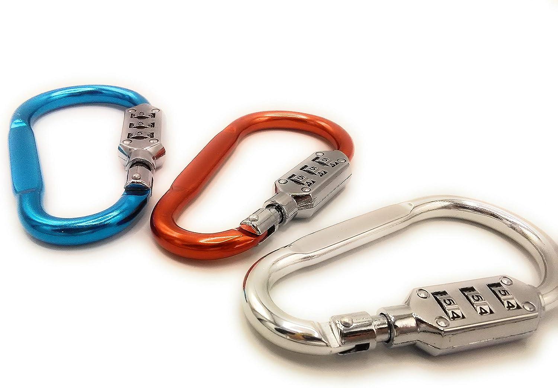 gancho para cochecito Mosquet/ón con combinaci/ón num/érica calidad 1A muy ligero 1 unidad, azul gancho para bolso