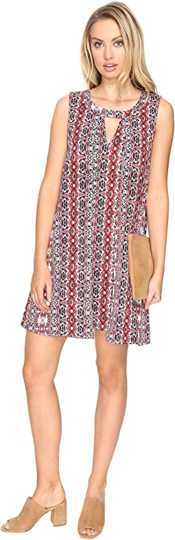 Artis Printed Overlap Dress