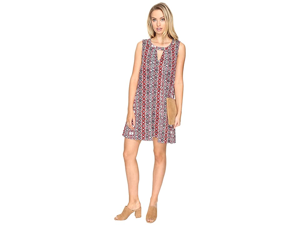 Jack by BB Dakota Artis Printed Overlap Dress (Ivory) Women