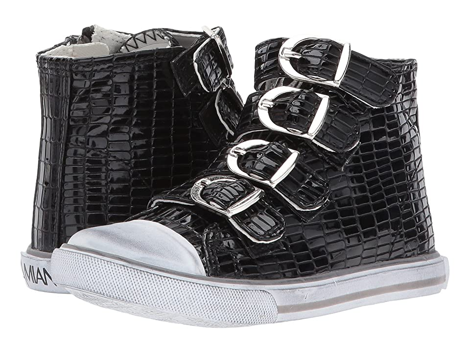 Amiana 15-A5172 (Toddler/Little Kid/Big Kid/Adult) (Black Tile Patent) Girls Shoes