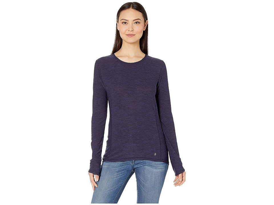 Royal Robbins Bug Barriertm Tech Travel Long Sleeve Shirt (Ink Blue Heather) Women