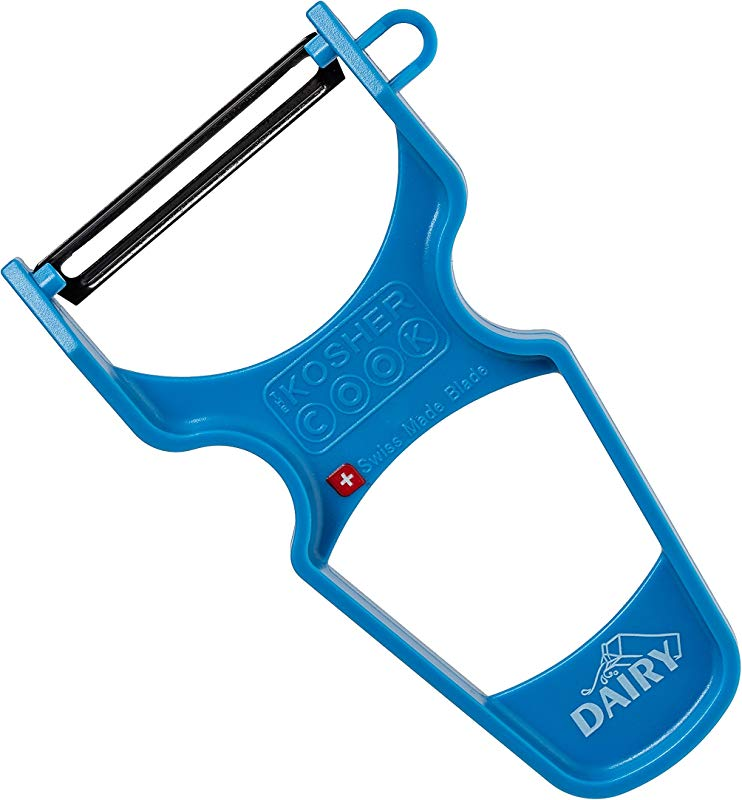 Dairy Blue Y Vegetable Peeler Heavy Duty Ultra Sharp Carbon Steel Swiss Blade Ergonomic Plastic Handle Color Coded Kitchen Tools By The Kosher Cook