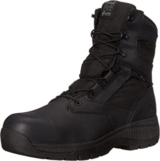 "Timberland PRO Men's 8"" Valor Composite-Toe Waterproof Side-Zip Work Boot"