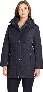 Calvin Klein Women'sClassic Quilted Jacket with Side Tabs...