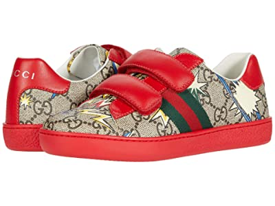 Gucci Kids Supreme Space Camp Sneaker (Little Kid) (Beige/Ebony Multi) Kid