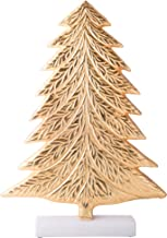 Palais Essentials Christmas Tree Gold on Marble Base - Tabletop Xmas Decoration - Ceramic Base (17 Inch High)
