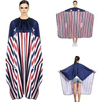 """Noverlife Professional Large Barber Cape Haircut Cape, 63x57"""" / 160x145cm, Waterproof Chemical Resistant Salon Cape Hairdressing Gown Smock Bib for Hair Dying, Perming, Styling, Conditioning"""