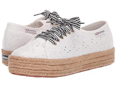 Superga 2730 Sangallosatinropelacesw Sneaker (White Eyelet) Women