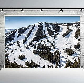 PHMOJEN Winter Park Ski Resort Backdrop Colorado Mountain Photography Background Vinyl 10x7ft Photo Booth Studio Props LYPH1054