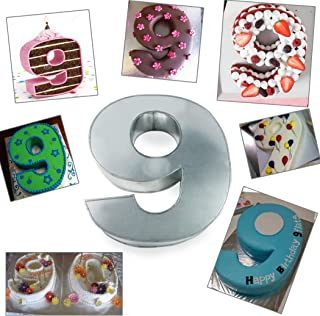 Large Number Nine Birthday/Wedding Anniversary Cake Tins/Pans/Mould 14