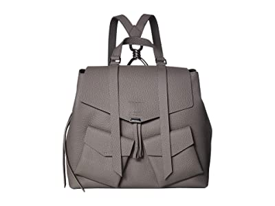 AllSaints Captain Leather Backpack (Storm Grey) Backpack Bags