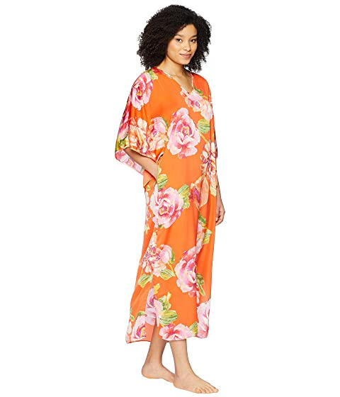 N by Natori South Pacific Caftan Coral White Discount Amazing Price Cheap 2018 New Order Online s13MTGe