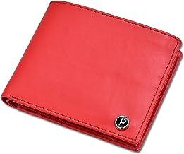 PIRASO Classy Look Matte Red Leather Men's Wallet