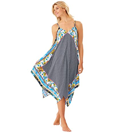 Tommy Bahama Sun Lilies Engineered Scarf Dress Cover-Up (Mare Navy) Women