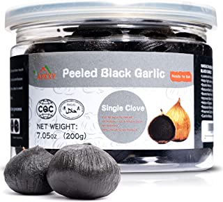APEXY - Whole Black Garlic - Fermented for 90 Days - Naturally Aged - Peeled Single Cloves - Gourmet Superfood - Ready to ...