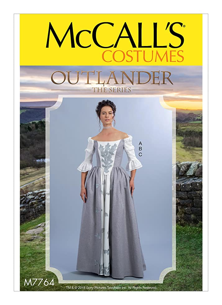 McCall's Patterns M7764 A5 Misses' Top and Skirts from Outlander: The Series, Size 6-14