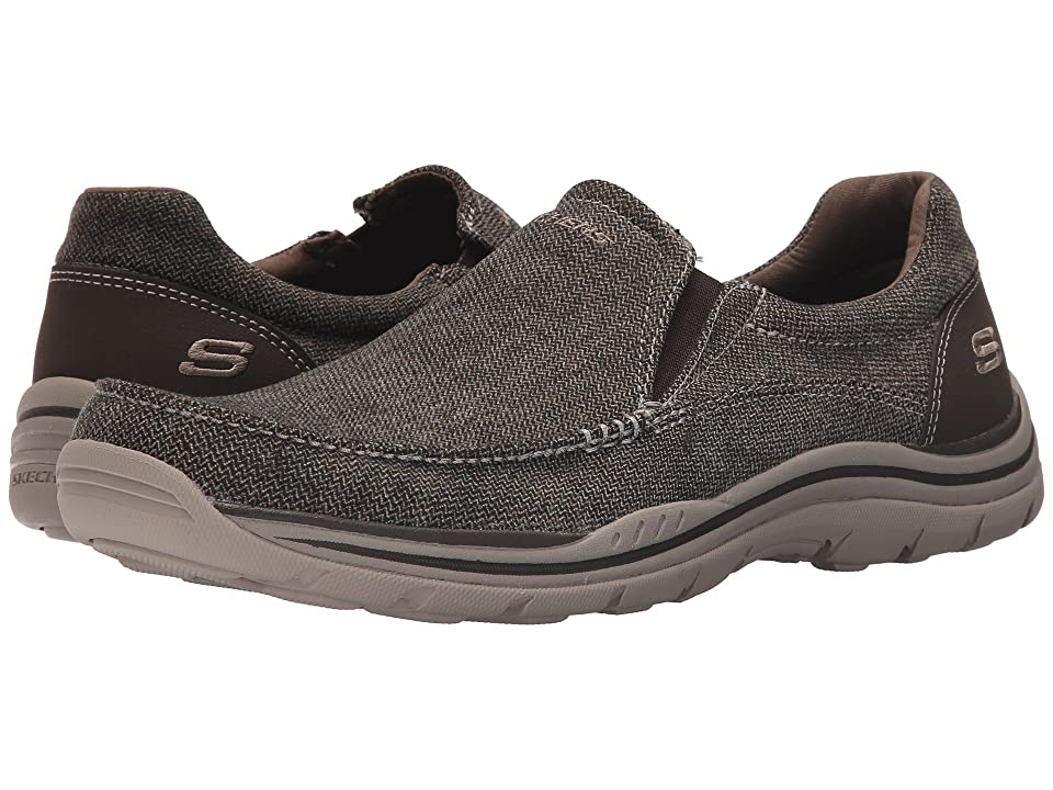 SKECHERS Expected Avillo (Brown Canvas) Men