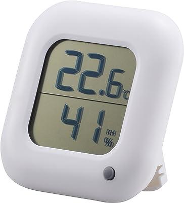 OHM デジタル温湿度計 白 TEM-100-W TEM-100-W