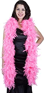 ZUCKER Heavy Weight Chandelle Feather boa Solid Colors - Pink Orient