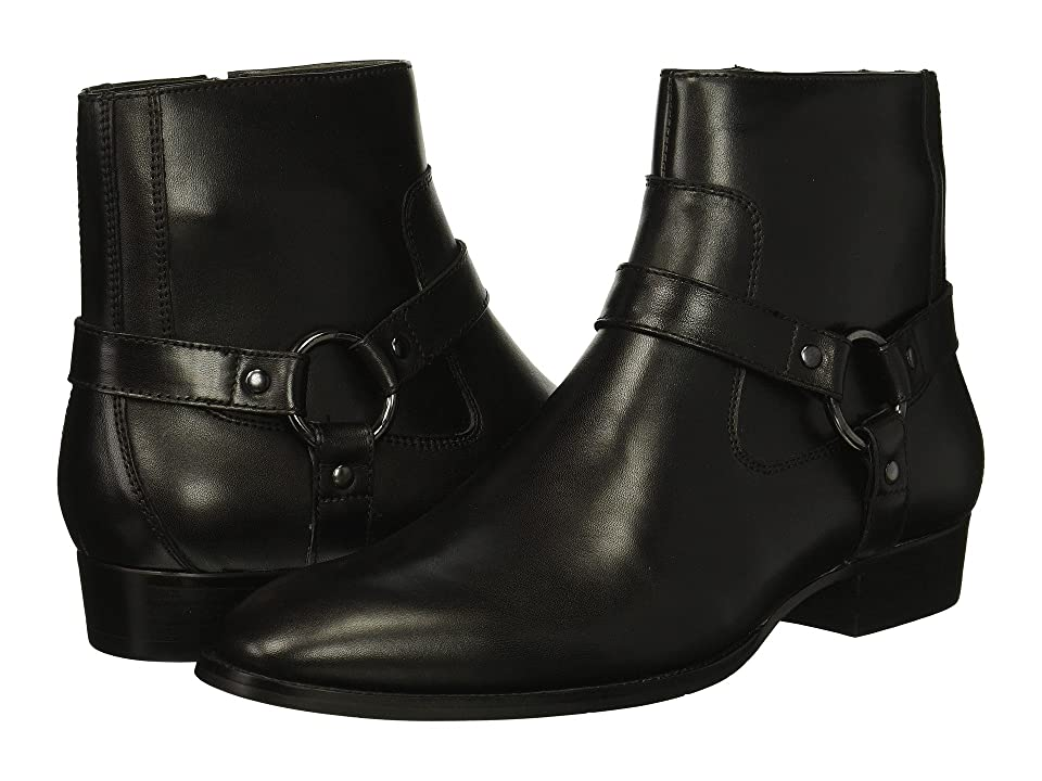 Steve Madden Sebastian (Black Leather) Men