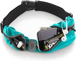 Sport2People Belt Running Belt USA ثبت اختراع شد - هندزفری بدون سرنشین فانی بسته - آیفون X 6 7 8 Plus کیسه بادی برای دونده ها - دارنده تلفن دور کمر انعکاس دهنده آزاد