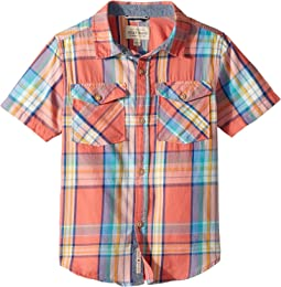 Short Sleeve Yarn-Dye Plaid Shirt (Little Kids/Big Kids)