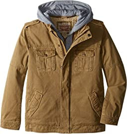 Zip Canvas Jacket (Big Kids)